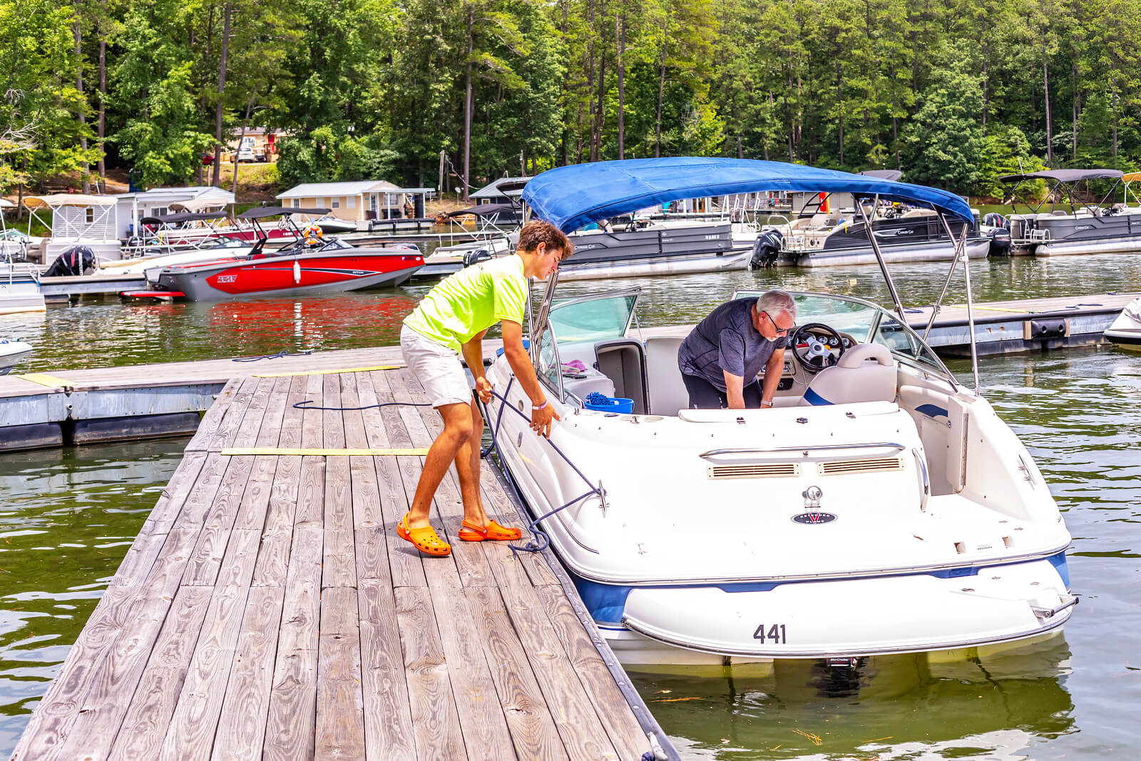 Slip Amenities at Little River Marina